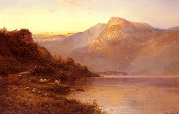 Breanski Alfred de Sunset On The Loch